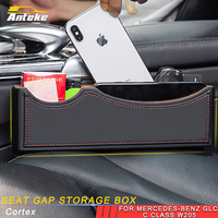 ANTEKE auto Seat gap storage box accessories for Mercedes benz A C E S class GLA CLA G500 GLE GLC ML GLK G