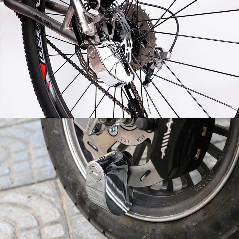 Anti Pencurian Sepeda Lock 110db Alarm Uncut Slot Bisiklet Aksesuar Candado Bicicleta Sepeda Motor Alarm Antivol VELO Sepeda Kunci Cakram