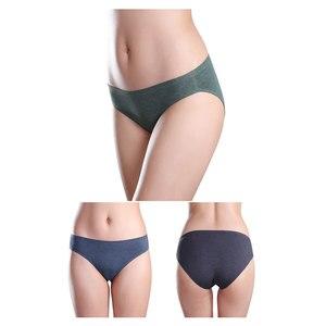 Image 2 - Wealurre 6 Stuks Ondergoed Vrouwen Lage Taille Naadloze Katoenen Slips Sexy Dames Solid Slipje Lingerie Hot Koop Bikini Onderbroek