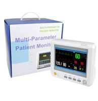 Veterinary Use Patient Monitor with ECG NIBP SPO2 Temperature and 5 sizes of small cuffs for VET use DHL Free Safe Pack to Door
