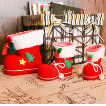 1Pcs Cloth Stockings For Home Party Christmas Tree Holders Room Store Shop Festival Santa Claus Courtyard Decoration Kids Gifts