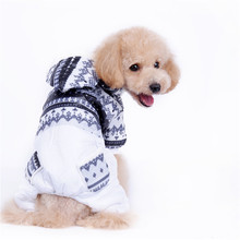 FA50 dog warm winter clothes winter coat for 4 legs Dog Snowflake pattern Pet Dog Winter Clothing pet coat free shipping