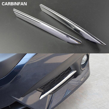 Front Fog Light Lamp Foglight Bumper Grille Chrome Trim Cover Car Styling Accessories For Honda Civic Sedan Coupe 2016 2017 2018 grille