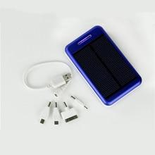 1x Solar Panel Charger dual USB Power Bank Real 7000mAh Outdoors External Metal Shell Smart Charging