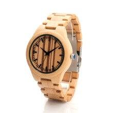 БОБО ПТИЦА Новое прибытие японского 2035 движение большой наручные часы из натуральной кожи полосы бамбука деревянные часы для мужчин и женщин F13