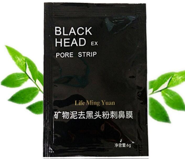 Black mud black nose mask with mineral paste to black head shrink pores and nasal tearin ...