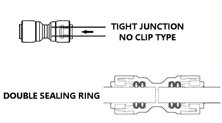 1/4 ''угловой RO водяной быстрый соединитель POM локоть PE штуцер системы фильтров части