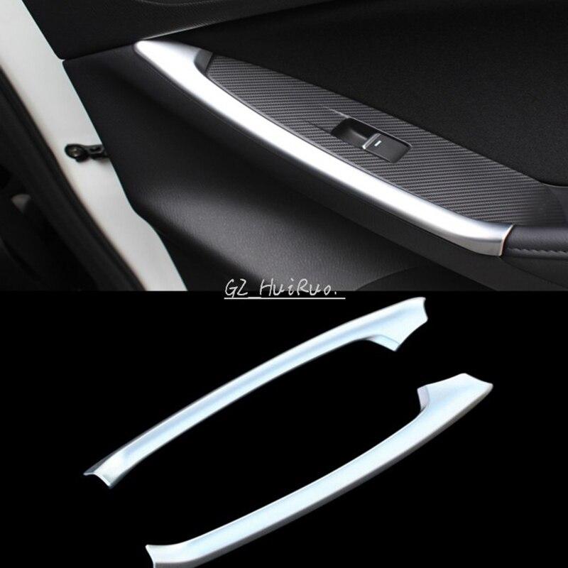 2014 Mazda Cx 5 Interior: 2pcs ABS Chrome Car Interior Rear Door Armrest Cover Trim