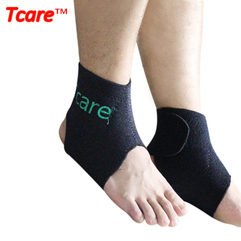 1Pair Tcare Self-heating Tourmaline Ankle Brace Sokongan Tourmalin Belt Magnet Therapy Ankle Massager Produk Kesihatan