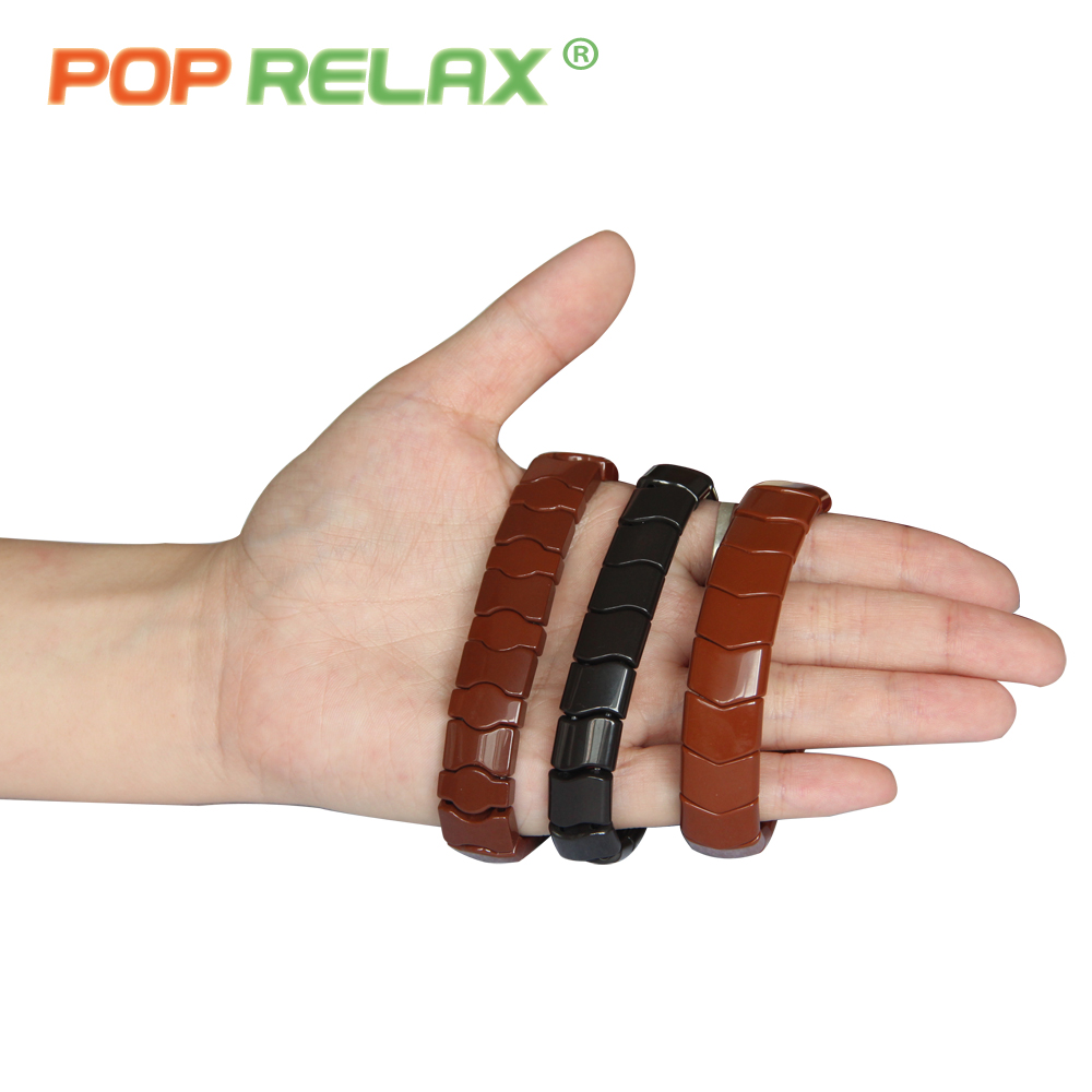 POP RELAX Korea tourmaline germanium bracelet body negative anion balance fashion healthy powerful stone bracelet for men women pop relax tourmaline health products prostate massager for men pain relief 3 balls germanium stone far infrared therapy heater