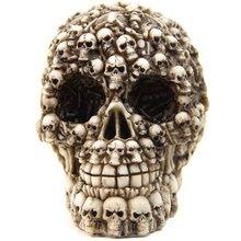 1x Unique Design Gifts & Decor Resin Skull Realistic Replica Statue Head Collectible Skeleton Figurine Model