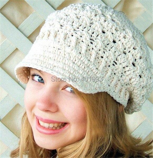 € 9.78 |Nuevo niño primavera sombrero beanie women de vendedor de  periódicos del sombrero crochet adultos sombreros patrones que hacen punto  ...