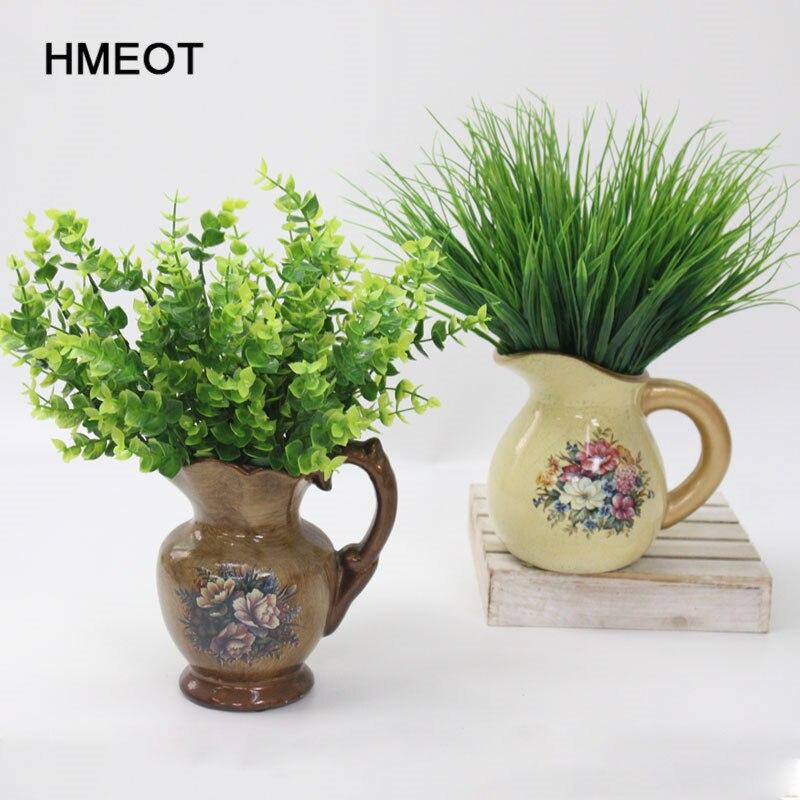 1pc Künstliche Blätter Große Eukalyptus Blatt Pflanzen Wand Material Dekoration Gefälschte Pflanzen Für Home Garden Party Decor