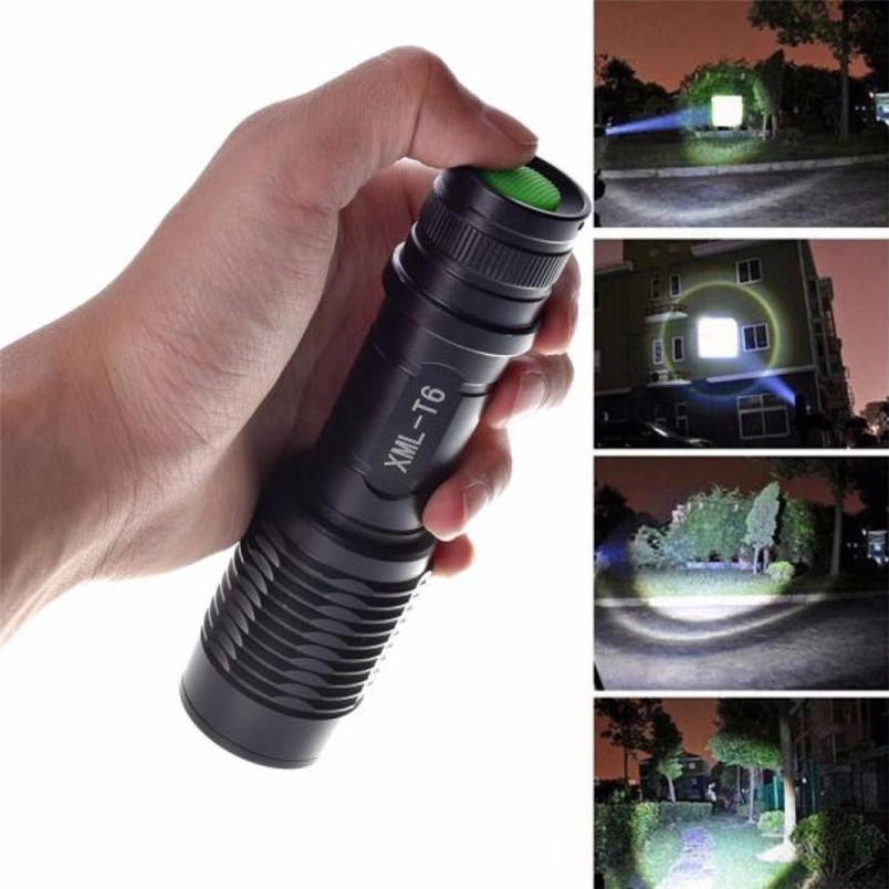 Efficient Super Bright 4000lm Zoomable Cree Xml T6 Led 5 Modes Police Led Flashlight Lamp Torch Camping Focus 2017 Nom18 Agreeable Sweetness Led Lighting Led Flashlights