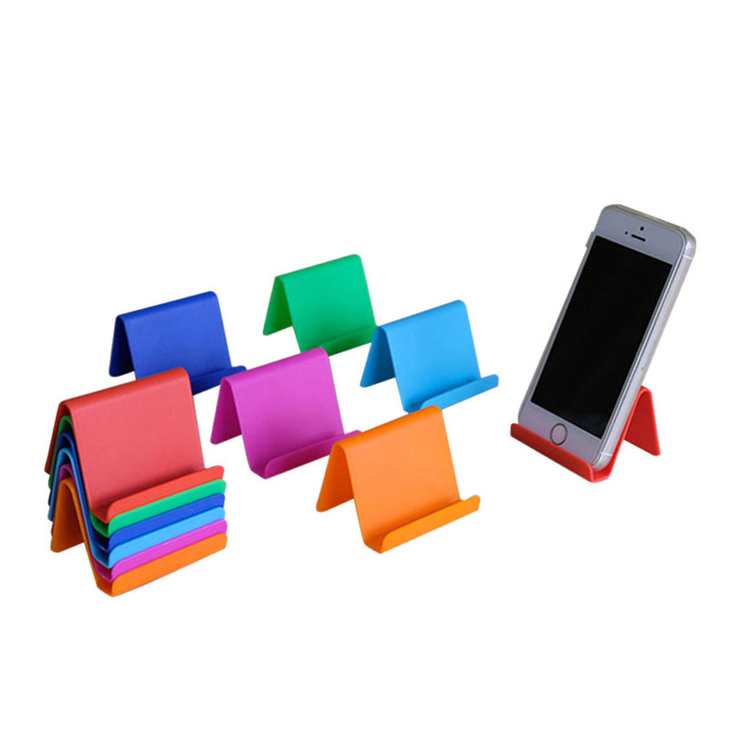 Portable Plastic Tabletop Fixed Universal Cell Phone Holder Tablet Stand Home Storage Organizer Accessories