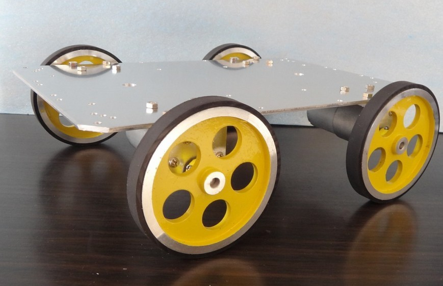 Intelligent car 3540 motor 95 aluminum wheel aluminum chassis robot car 2 wheel drive robot chassis kit 1 deck