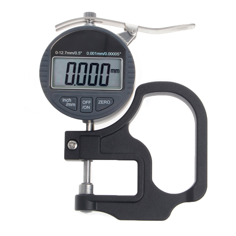 Digital Micrometer 0.001 12.7mm Electronic Thickness Gauge Depth LCD Measurement W310 new high precision digital micrometer precision thickness gauge 0 12 7mm 0 001mm paper film fabric tape thickness measurement