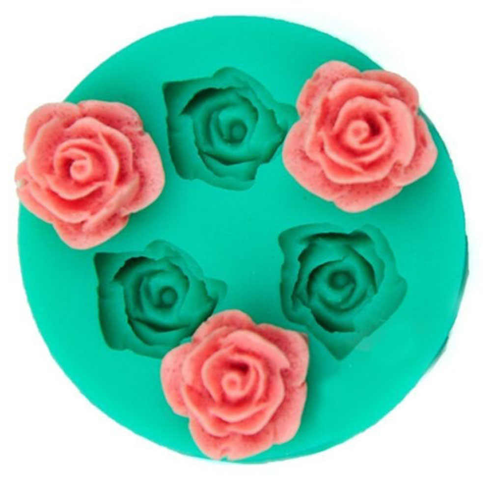 3D Food-grade Silicone Mold Rose Flower Shapes Cake Chocolate Candy Jello Silicone Moulds wedding cake Decorating Tools