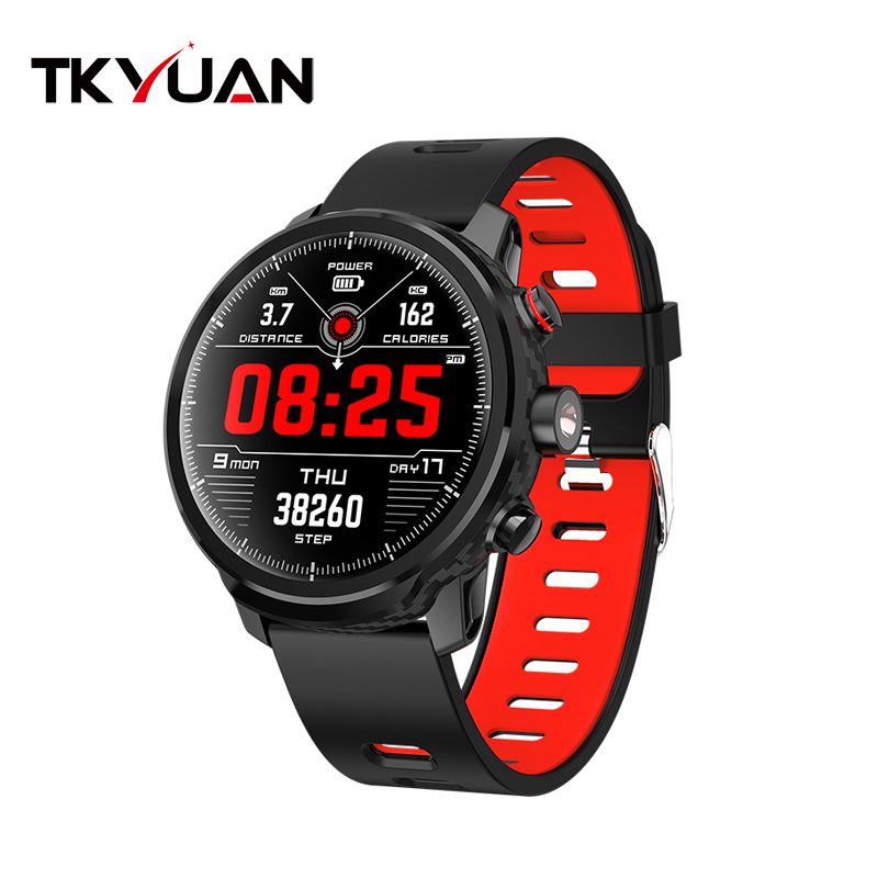 TKYUAN L5 color screen smart watch dynamic heart rate monitoring Standby for 100 days LED lighting