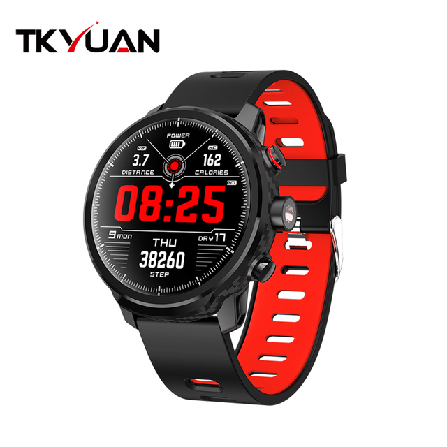 TKYUAN L5 color screen smart watch dynamic heart rate monitoring Standby for 100 days LED lighting IP68 waterproof
