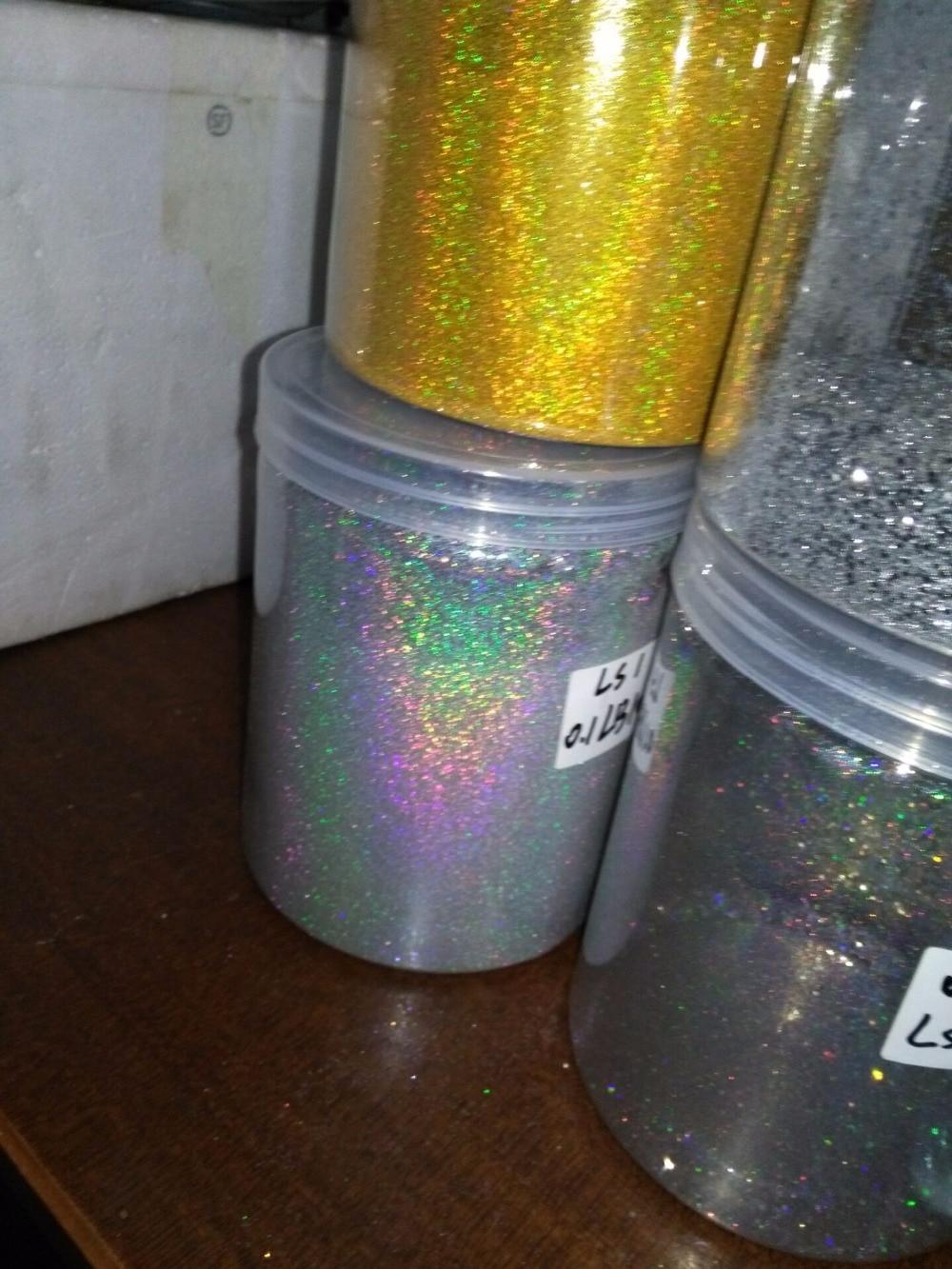 0,1 мм(004 дюйма)-голографический лазер серебряное Золото Блестящий ультра тонкий блеск для ногтей пылезащитный порошок для украшения лака, 50 г
