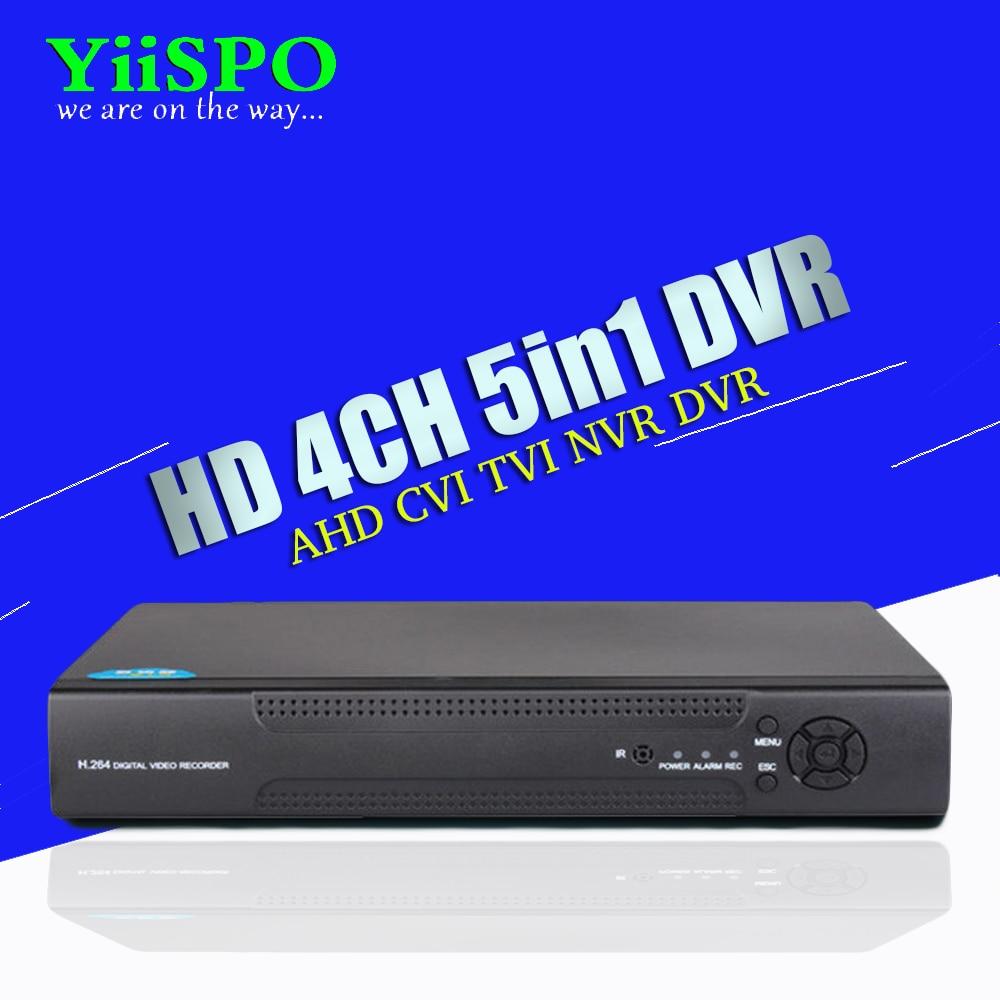 YiiSPO 4CH/8CH 16CH 1080N TVI CVI AHD-NH 5 In1 Hybrid DVR/1080P NVR Video Recorder AHD DVR For AHD/Analog Camera IP Camera 5 in 1 security cctv dvr 4ch ahd 1080n h 264 hybrid video recorder for ahd tvi cvi analog ip camera onvif hdmi 1080p output