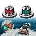 Ansblue 1 пара из нержавеющей стали 12В Светодиодная лампа для навигации с бантом красный зеленый световой сигнал для морской лодки и яхты сигна...