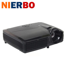 NIERBO 3D Projector HD 1080P Portable Home Video Projetor 6000 Lumens Daylight Beamer Education School 260W UHP Bulb Replaceable