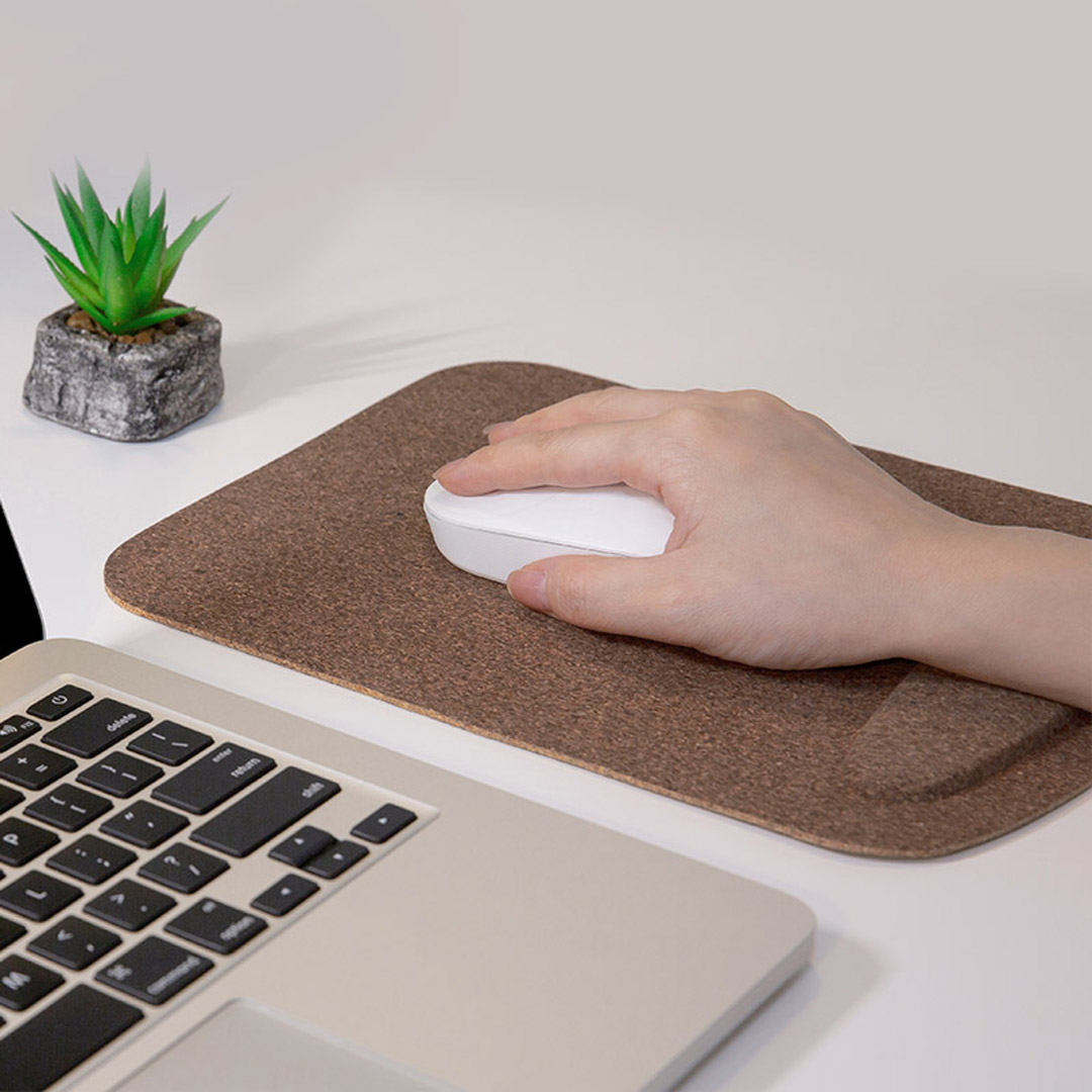 Image 4 - Xiaomi Mouse Pad Waterproof Skin Friendly Oak Coating Ergonomic Mouse Mat With Wrist Rest For Wired Wireless Gaming Mouse-in Mouse Pads from Computer & Office