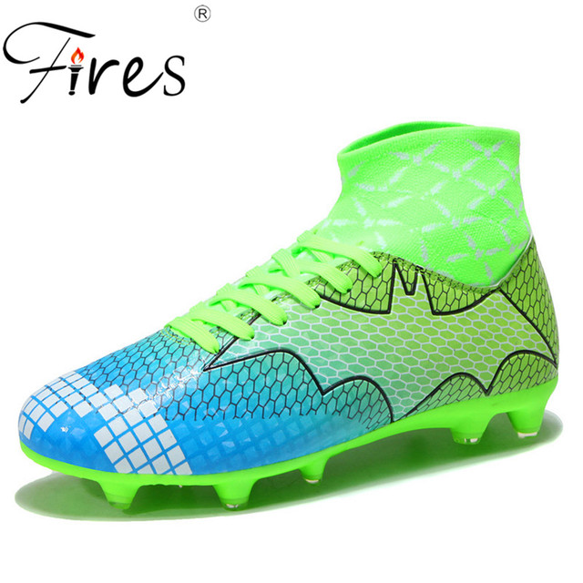 1867e948d Football Boots Men High Top Ankle Superfly Man Soccer Shoes AG Professional Outdoor  Kids Training Sock Cleats Fashion Sneaker 45