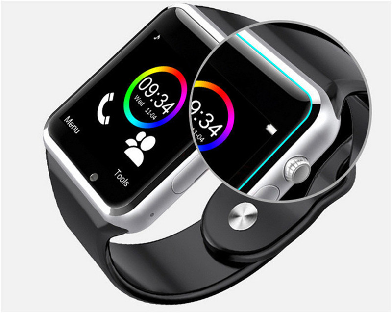 MambaMan A1 için Bluetooth Smart İzle Bilek İzle Erkekler Spor İzle iPhone 6 Samsung S4/Not 2/3 Android/IOS vs xiaomi band 2
