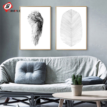 Palm Leaf Posters Prints Wing Canvas Painting Nordic Art Wall Picture For Living Room Modern Scandinavian Home Decor No Frame