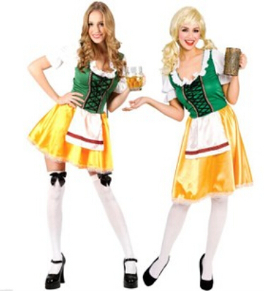 German Oktoberfest wine Halloween  costume girls clothing traditional Bavarian clothes nightclub promotional costume