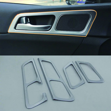 Car Accessories Interior Decoration ABS Inner Door Handle Bowls Frame Cover Trim 4pcs For Kia KX5/Sportage 2016 стоимость