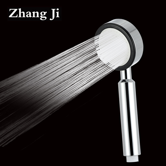 zhangji 68 holes round bathroom hand hold shower head high pressure abs chorme rainfall water saving