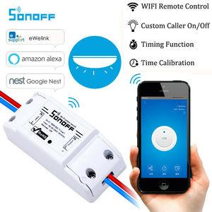 Image 1 - Interruptor inteligente Wifi Sonoff DIY interruptor remoto inalámbrico inteligente Domotica Wifi interruptor de luz Smart Home Controller trabajo con Alexa