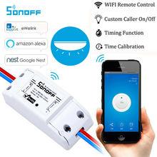 Sonoff الذكية Wifi التبديل DIY الذكية اللاسلكية مفتاح بالتحكم عن بعد Domotica Wifi مفتاح الإضاءة الذكية المنزل تحكم العمل مع اليكسا