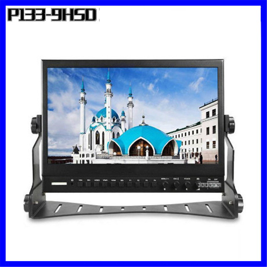 P133-9HSD 13 pouces IPS moniteur de diffusion 9-24 V avec 3G-SDI HDMI AV YPbPr directeur professionnel moniteurs LCD de bureau 1920*1080