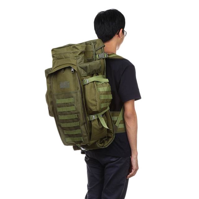 5de6aacda1 60L Outdoor Military Waterproof Backpack USMC Army Military Tactical  Backpack Travel Hiking Rucksack Hunting Camping Bag