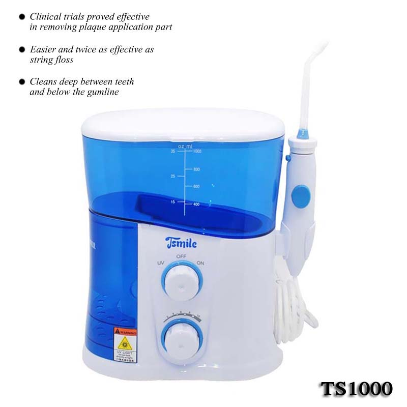 Dental water flosser /rechargeable dental oral irrigator/dental water jet TS1000 2017 teeth whitening oral irrigator electric teeth cleaning machine irrigador dental water flosser professional teeth care tools
