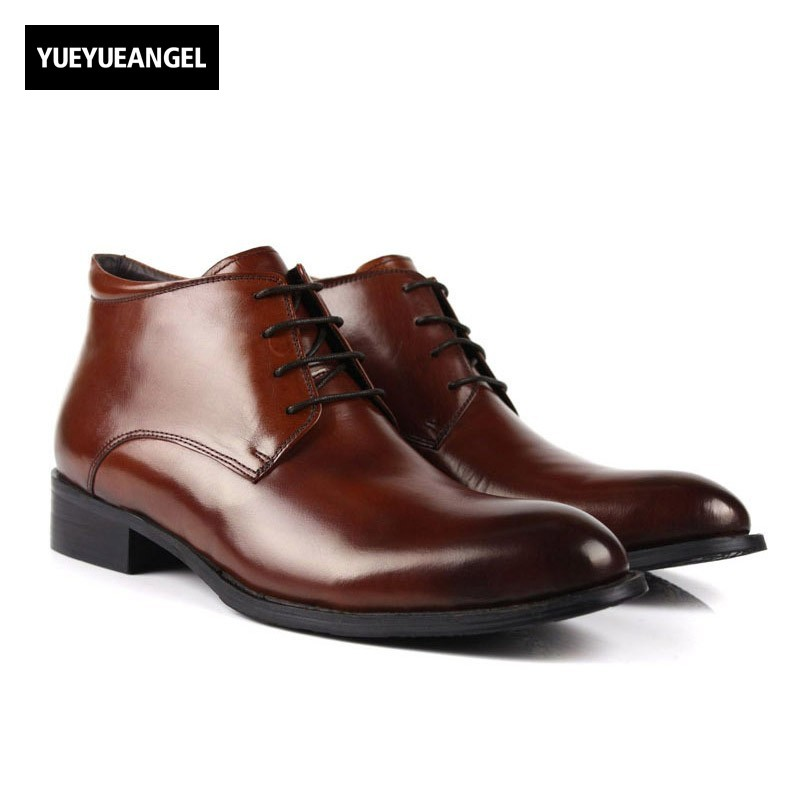 Men Wool Lining Warm Winter Boots Lace Up Office Work Safety Shoes Botas Top Quality New Genuine Leather Business Man Footwear gram epos men high quality winter warm plush oxfords casual shoes men dress business lace up flats zapatos de hombre male botas