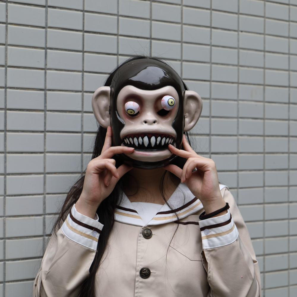 Animal Masks Animal Themed Costumes Monkey Orangutan Mask Cosplay Prop Halloween Accessories Men Women Face Mask Full Head (3)