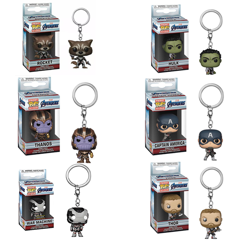Thanos Avengers Endgame Pocket Pop Official Marvel Funko Pop Vinyl Keychain