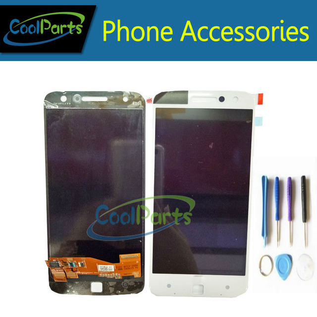 High Quality Black and White Color For Motorola Z Play XT1650 LCD Display and Touch Screen Digitizer with Tools 1PC/Lot