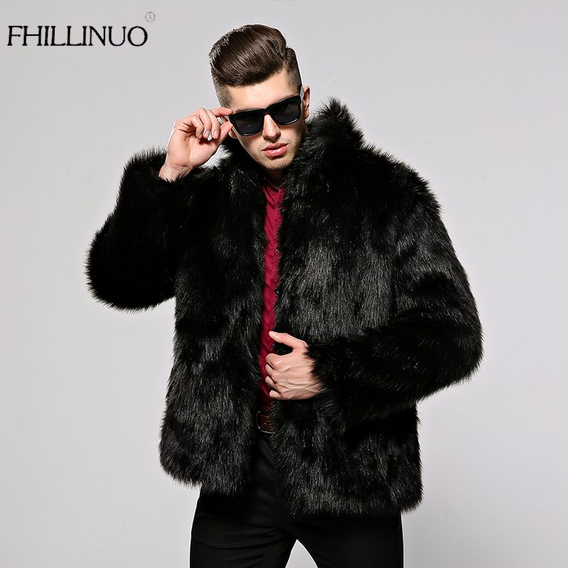 Men Black Fur Coats Promotion-Shop for Promotional Men Black Fur ...