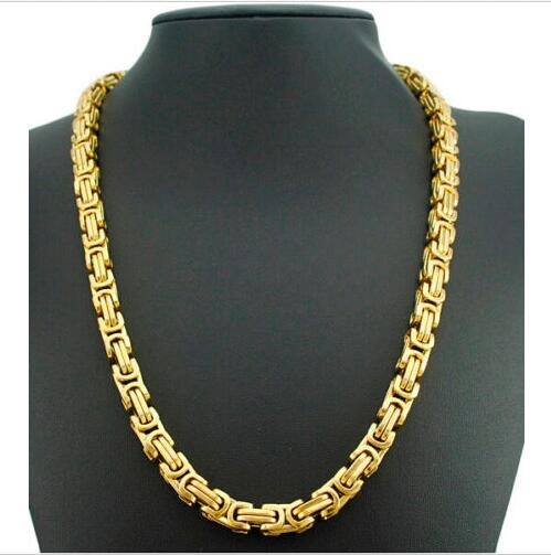 gold any curb mens cut trendsmax color necklace customize wide length item steel chain stainless tone heavy