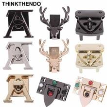 Deer Horse V Rectangle Shape Metal Bag Decoration for DIY Handbag Craft Messenger Shoulder Hardware