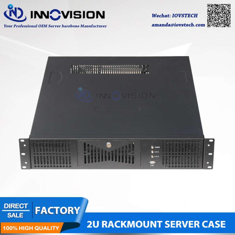 2U rack-mount chassis voor ATX compatibel met server halve lengte PCI PCIe expanional kaartsleuven
