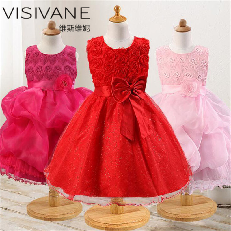 European Style Baby Girl Summer Clothes Fashion Girls Dress Vestido De Festa Princess Dress With Bow New Kids Dresses For Girls star dress for girl european style bow tutu dress long sleeve mesh girls dresses leisure holiday kids clothes pink black