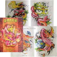 Free Shipping A4 Size Traditional Figures Flash Tattoo Art Book Sketch Manuscript For Tattoo